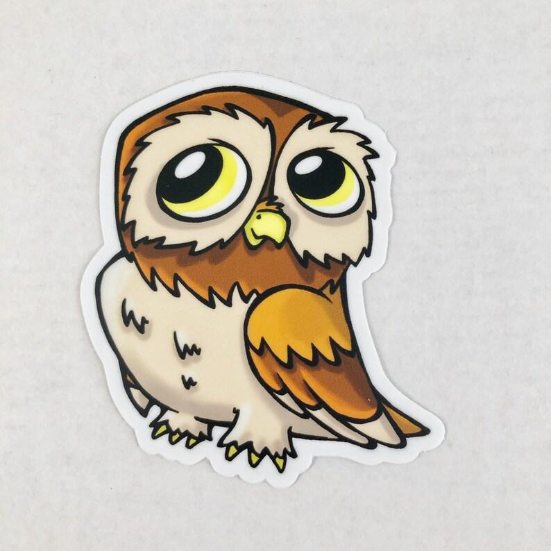 Owl Die Cut Sticker image 0