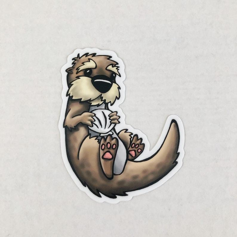 Otter Die Cut Sticker image 0
