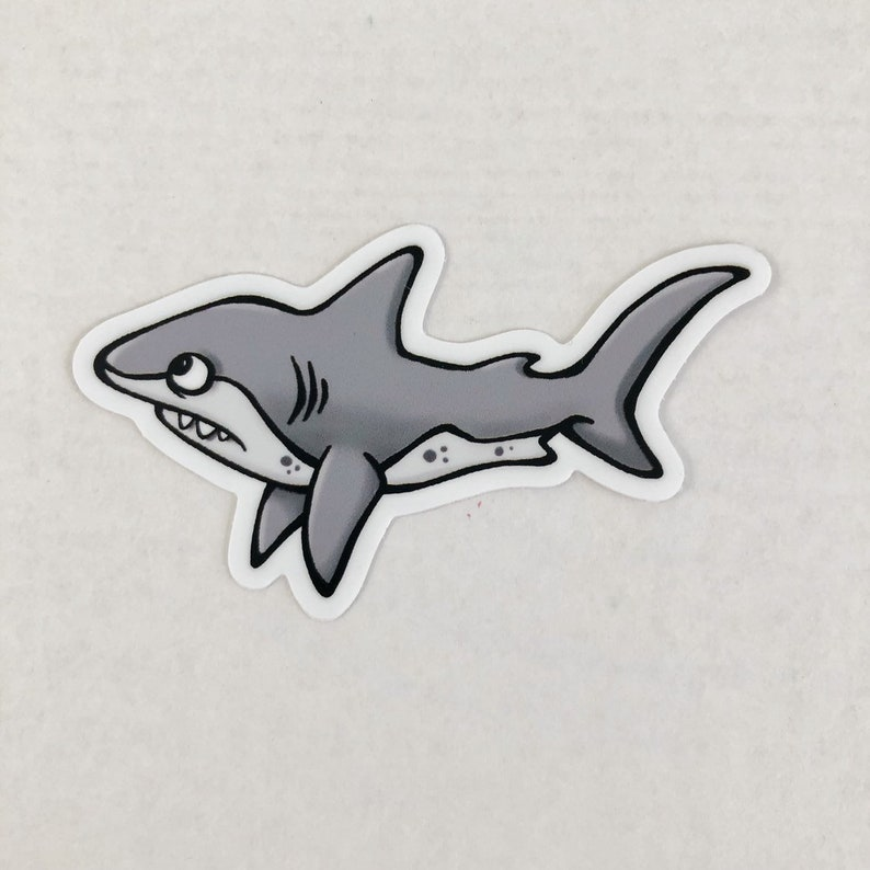 Shark Die Cut Sticker image 0
