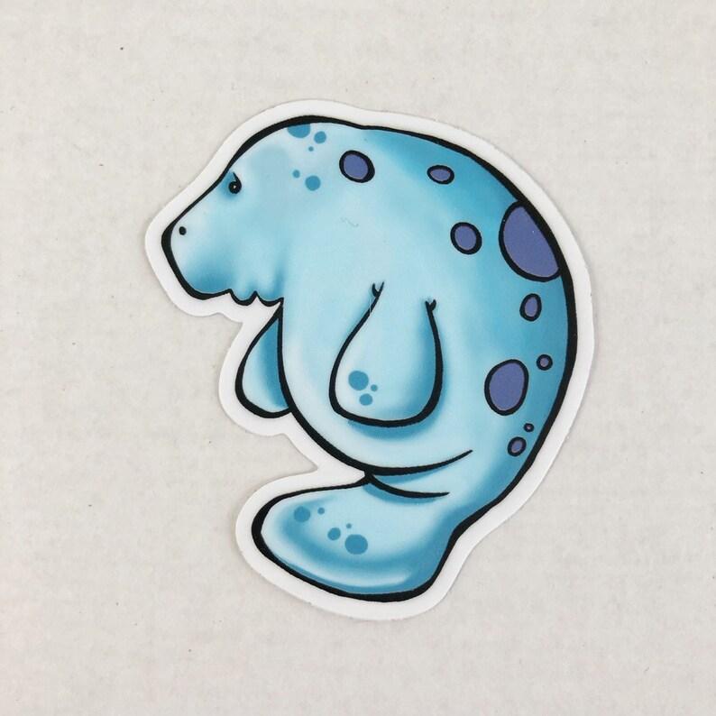 Manatee Die Cut Sticker image 0
