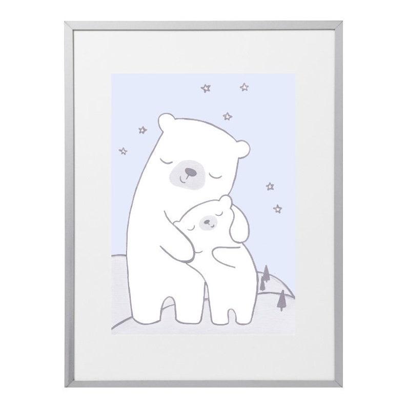 Poster Kinderzimmer Eisbär Babyzimmer Poster Kinderposter | Etsy