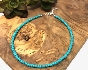 Turquoise Beaded and Pendant Necklace