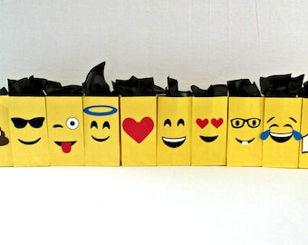 Emoji Treat Loot Bags