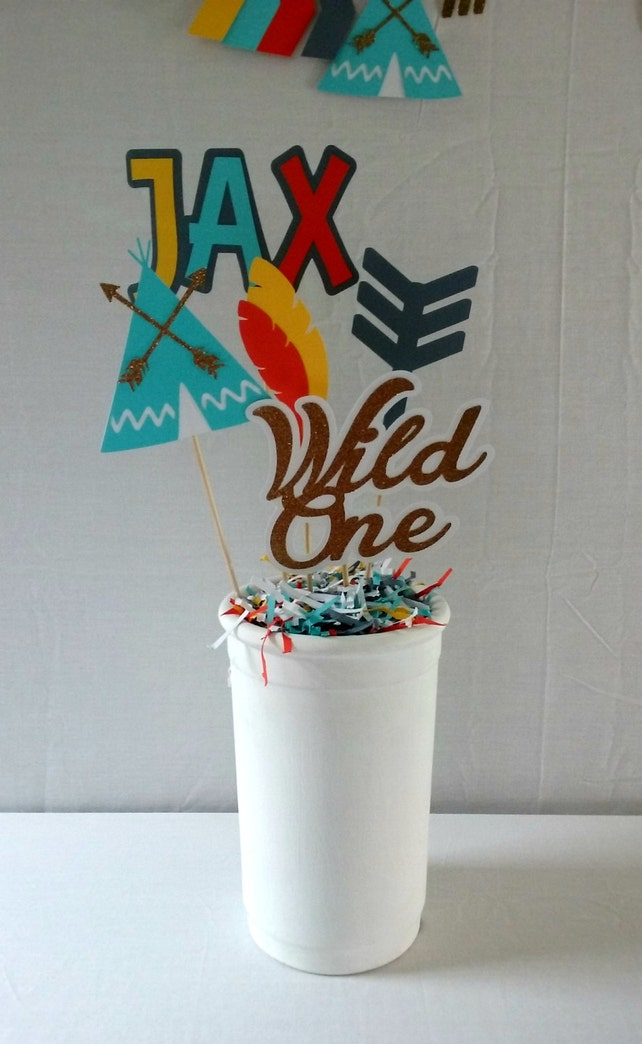 Tribal Birthday Centerpiece - wild one - boho party supplies - party decor - tribal decorations - aztec decorations - tribal party