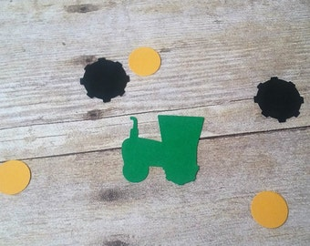 Tractor Confetti - tractor die cuts - Party Supplies - tractor party - tractor decorations - tractor birthday - tractor shapes