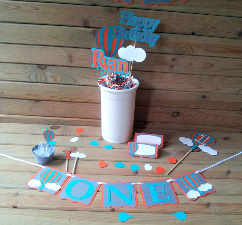 custom orders accepted up up away party decorations Hot Air Balloon Confetti
