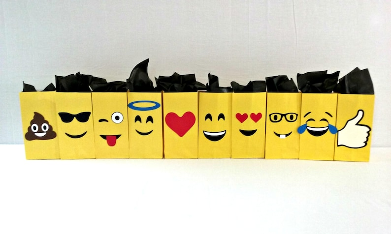 Emoji Treat Loot Bags Party Supplies