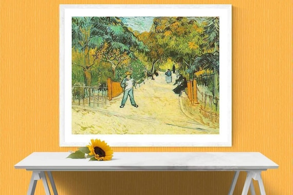 Entrance to the Public Park in Arles by Vincent Van Gogh Giclee Repro on Canvas