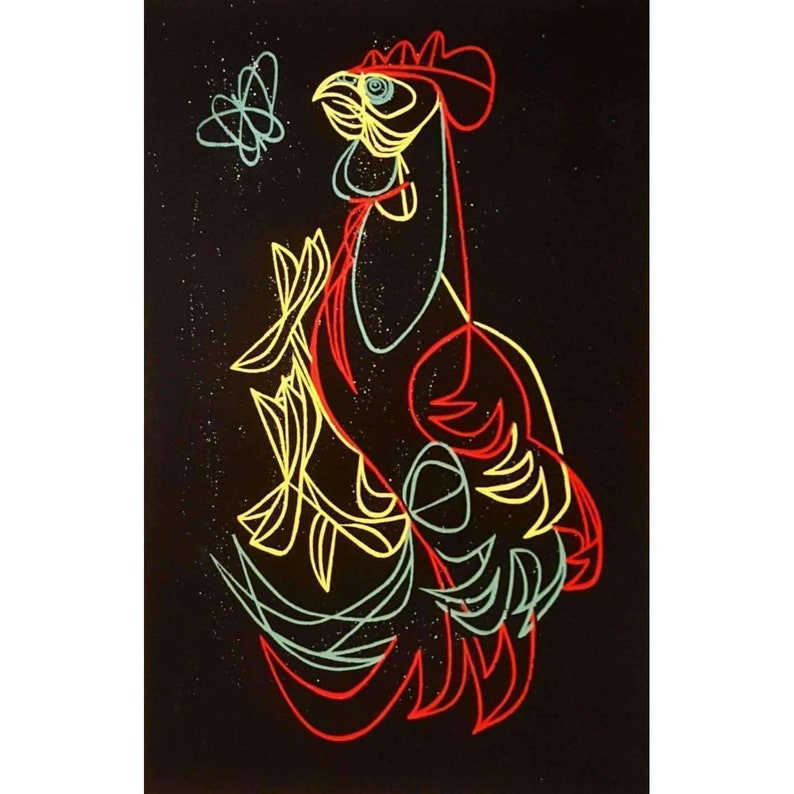 Astounding Jane Keenan Rooster Screenprint Home Interior And Landscaping Palasignezvosmurscom
