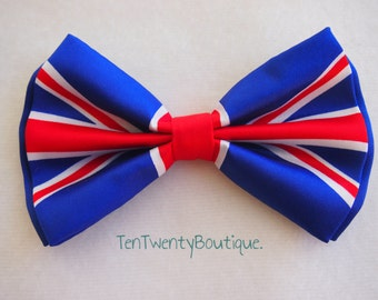 New Union Jack England UK Flag Bow Tie Bowties Great Britain GB Bow tie
