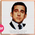 The Office - Michael Scott's best quotes and scenes serie - Loved - TV show Modern Cross stitch Pattern - Funny and Easy!