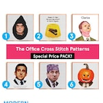 2 Patterns for 11 euros! • Funny Cross Stitch Patterns • Digital download • The Office Cross stitch