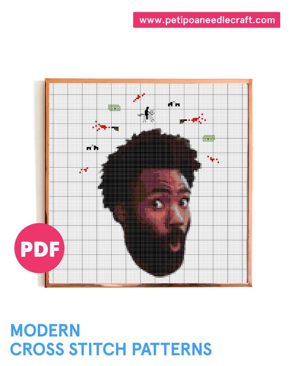 This Is America • Childish Gambino • Savage • Music Video Modern Cross stitch Pattern • Funny and Easy!