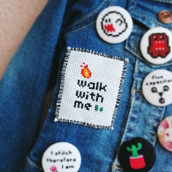 Twin Peaks • Cross Stitch Patch • David Lynch • Laura Palmer • Fire walk with me • Modern embroidery
