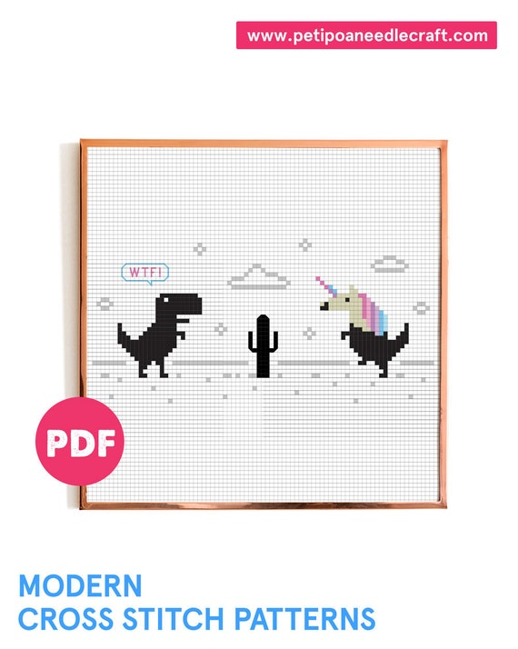 WTF Unicorn • Funny Cross Stitch Pattern • Unicorn Cross Stitch • Digital Download • Meme Cross Stitch Pattern • Modern Embroidery