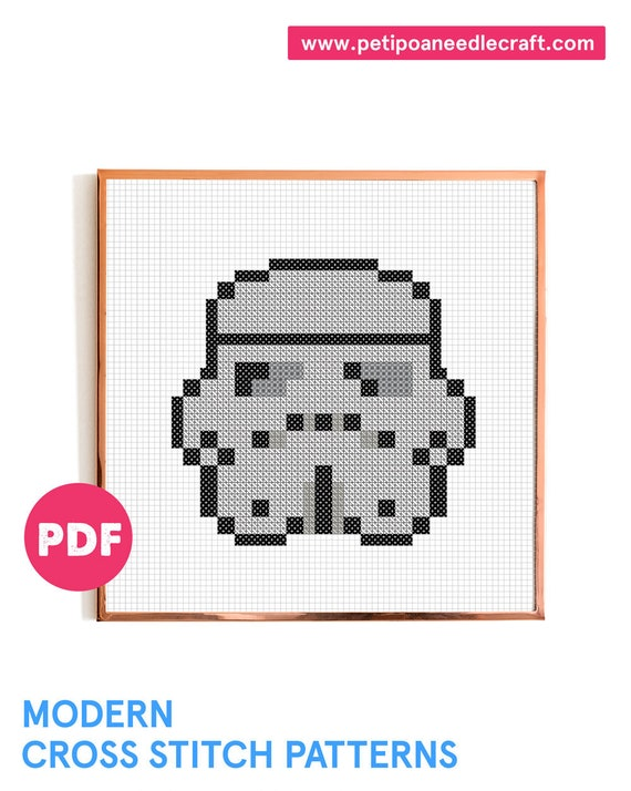 Stormtrooper • Cross Stitch Pattern Modern • Digital download • Star Wars • Star wars Cross Stitch • Modern embroidery