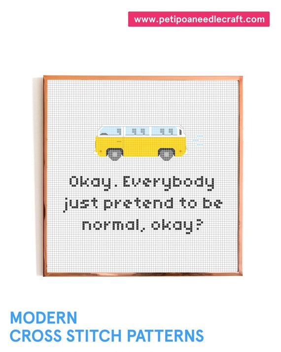 Little Miss Sunshine • Funny Cross Stitch Pattern • Digital download • Movie quote • Modern embroidery
