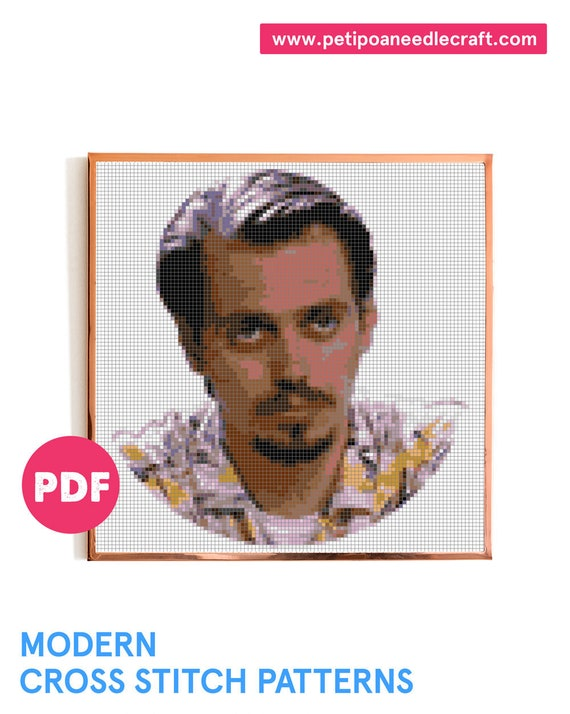 Steve Buscemi • Cross Stitch Pattern Modern • Digital download • Reservoir Dogs • Tarantino • Movie poster • Modern embroidery