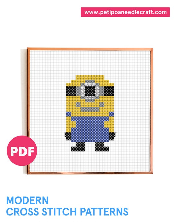 Minion • Cross Stitch Pattern Modern • Digital download • Despicable me • Easy cross stitch • Modern embroidery