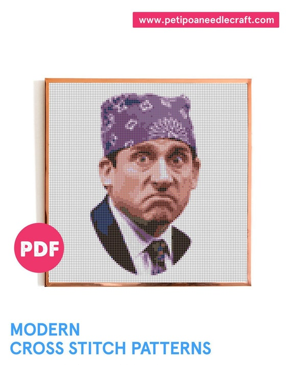 The Office TV show • Michael Scott • Funny Cross Stitch Pattern • Digital download • Prison Mike • Modern embroidery