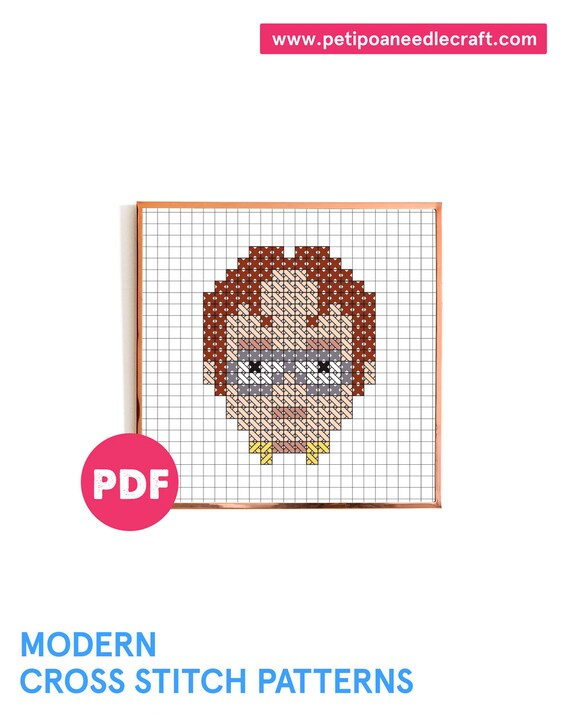 The Office TV show •Mini Dwight portrait • Funny Cross Stitch Pattern • Digital download • The Office Cross stitch •Modern embroidery