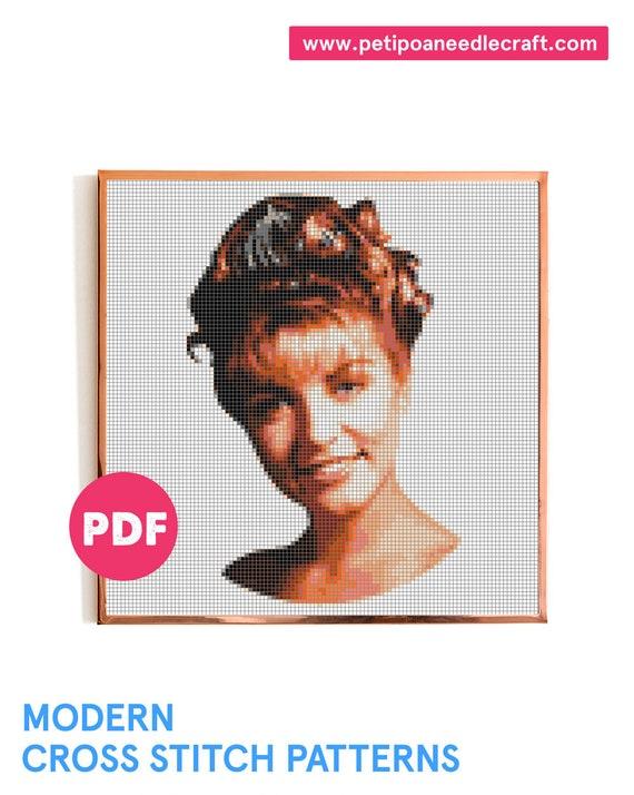Twin Peaks • Cross Stitch Pattern Modern • Digital Instant Download • Laura Palmer • David Lynch  • TV Show Cross Stitch • Modern embroidery