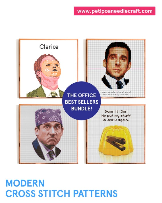 The Office Best Sellers Bundle! • Funny Cross Stitch Patterns • Digital download • The Office Cross stitch