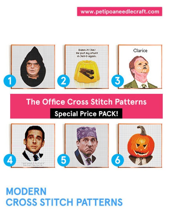 DEAL! The Office TV show • Funny Cross Stitch Patterns • Digital download • The Office Cross stitch • Pack deal • Modern embroidery