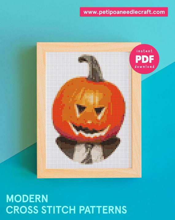 The Office Tv Show - Dwight Schrute Halloween serie - Pumpkin - Funny, Easy and Modern Cross stitch Pattern