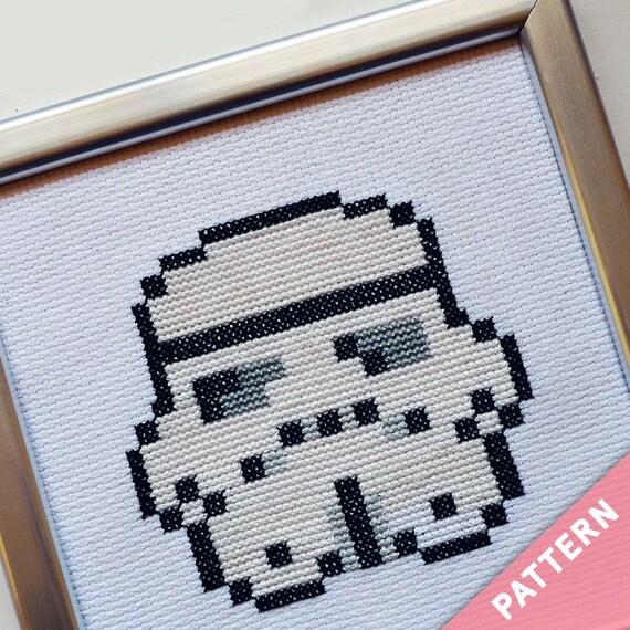 Star Wars Mini Cross Stitch Pattern - Stormtrooper