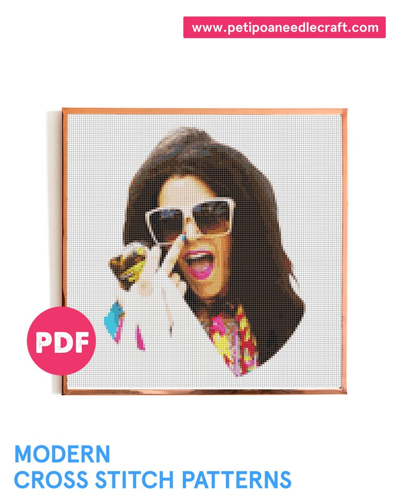 Broad City Cross Stitch Pattern  Abbi Broad City  Digital image 0