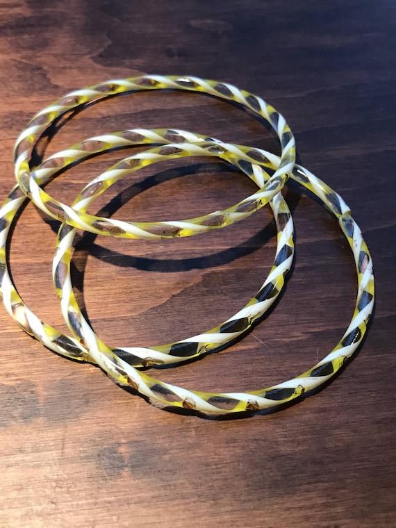 3 x beautiful glass bangles
