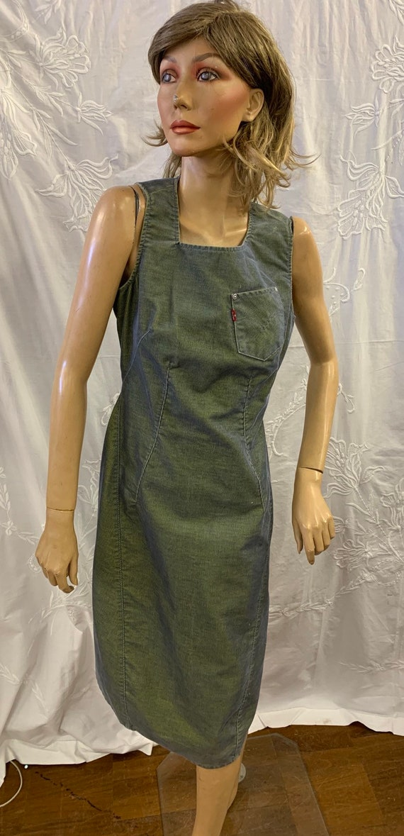 Rare isotonic Levis denim and lime green dress size small
