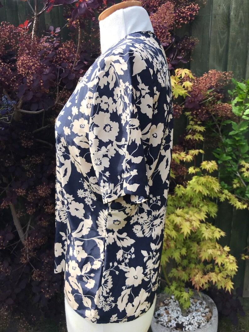 StmMichael/'s Vintage floral short sleeved blouse size uk 10  38 bust