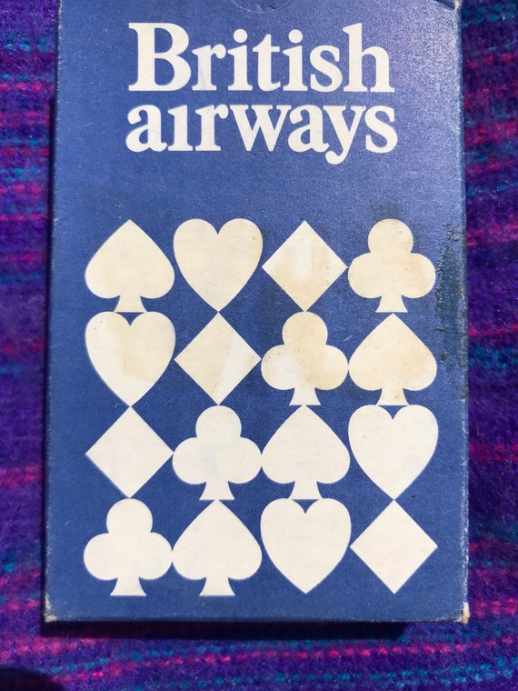 British airways playing cards 1980