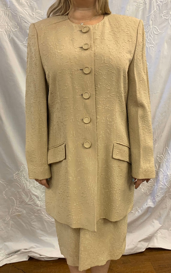 Vintage designer Jaeger dress suit size Uk 16