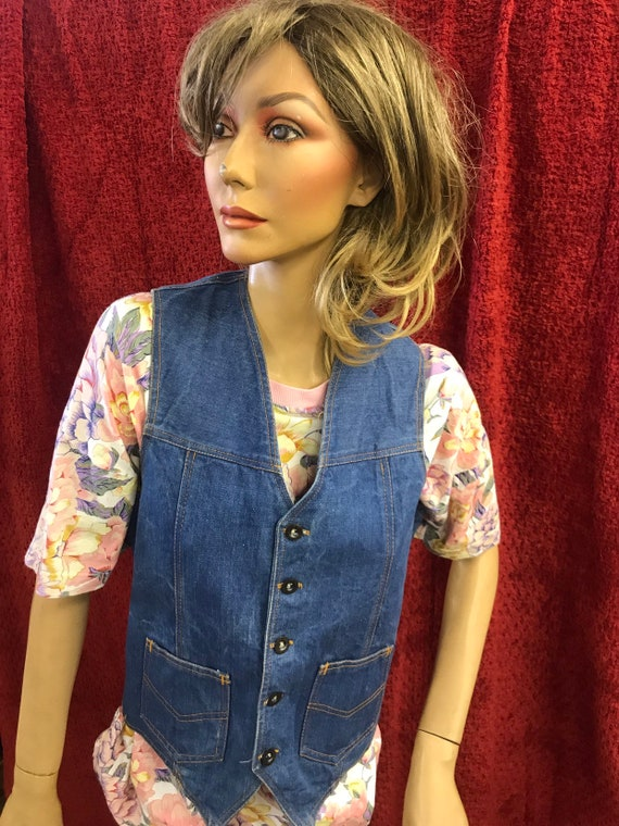 Hand made vintage denim waistcoat