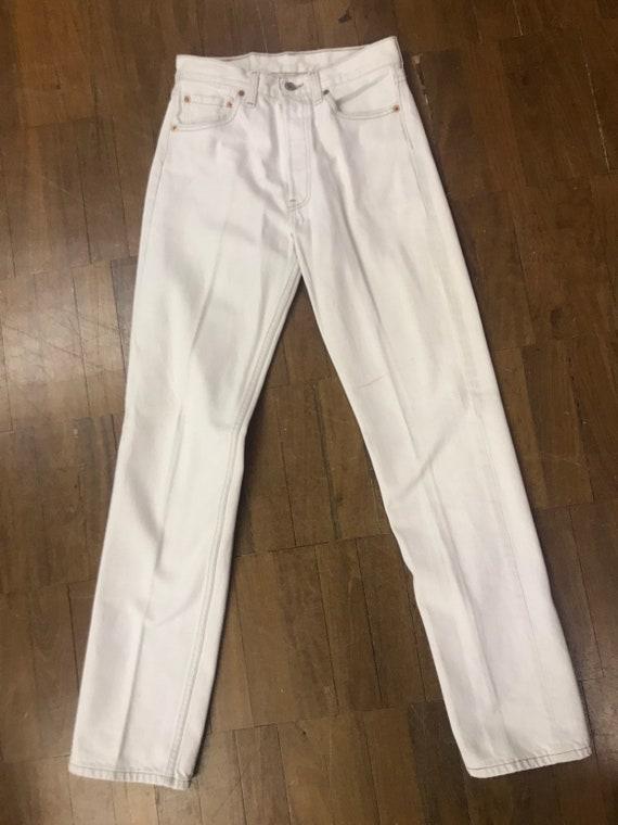 Vintage Levi Strauss  501 white  jeans W28 L32
