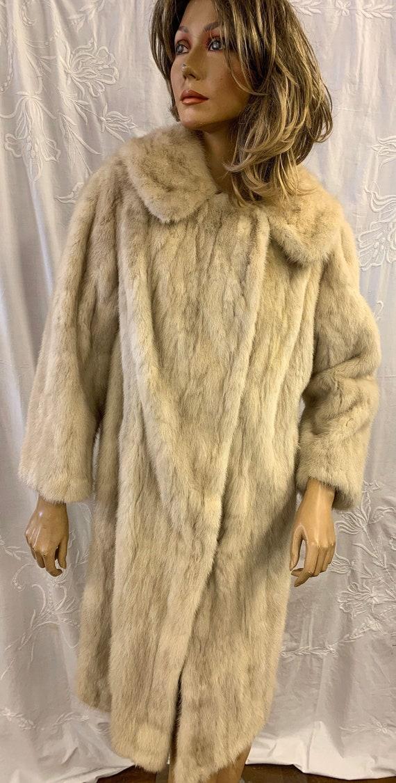 Vintage blonde Stoat fur coat size uk 12