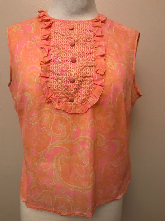 "Gorgeous vintage 1960's blouse made by St.Michael's Size uk 14-16. 38"" bust"