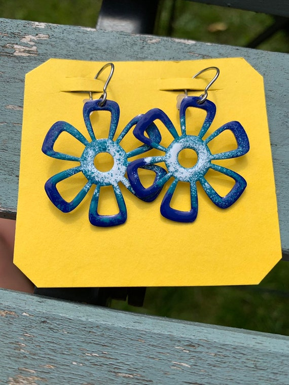 Handmade flower earrings