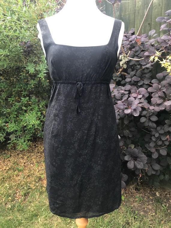 Black vintage Oasis dress size size uk10 eur 36r