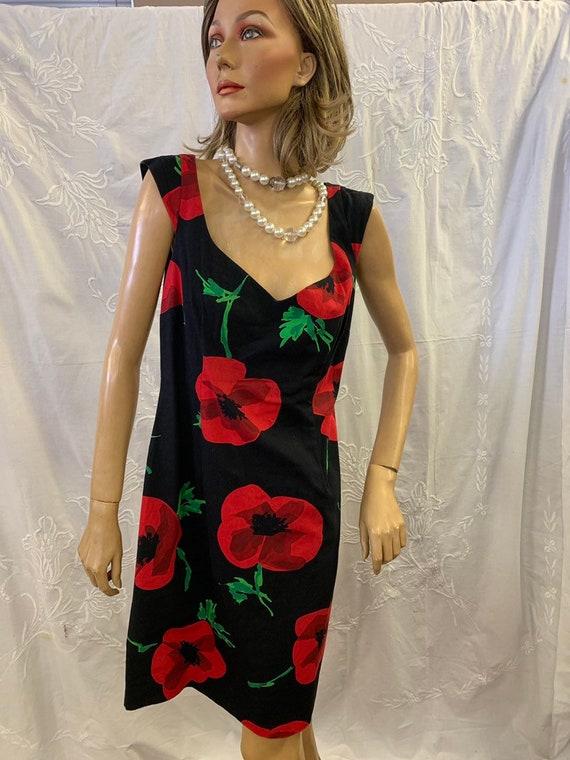 Moschino vintage poppy dress size uk 12