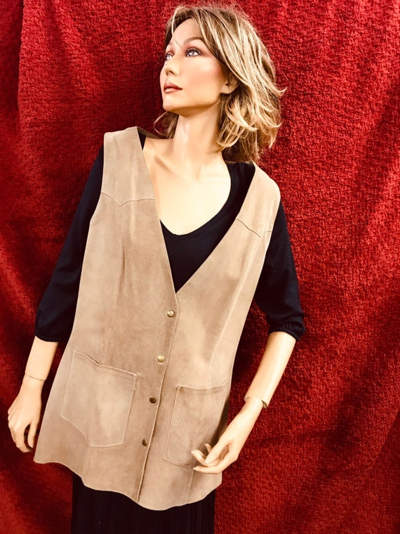 Ladies 1960's suede waistcoat
