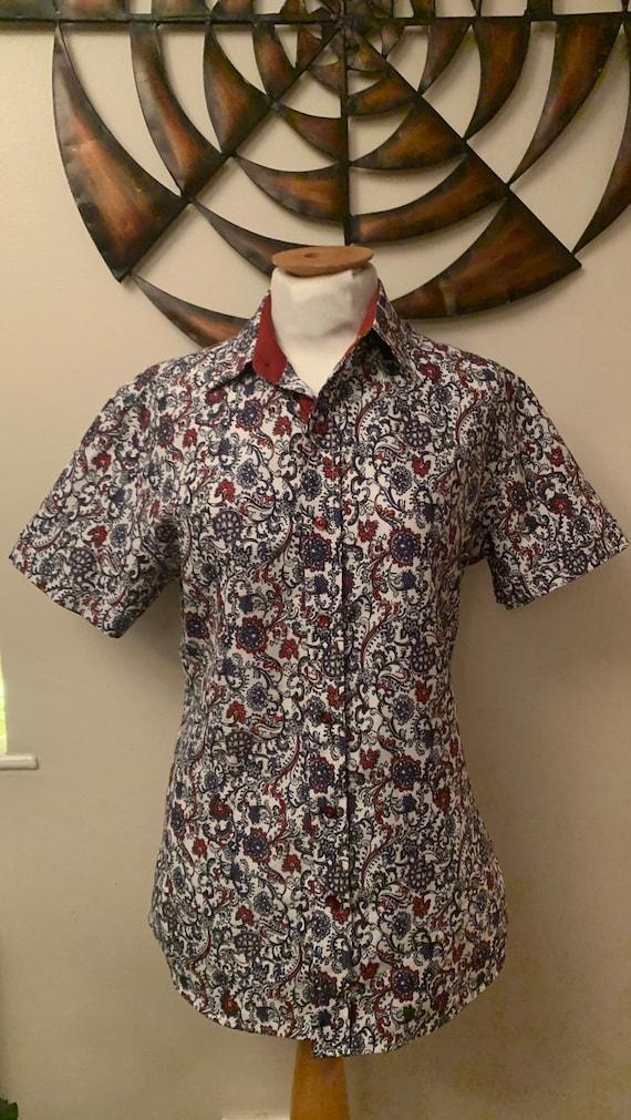 Men's handmade vintage silk shirt made in Vietnam