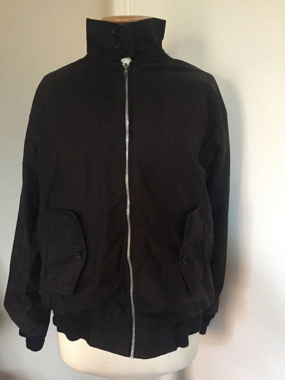 Vintage Harrington jacket in black size medium