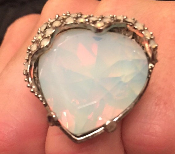Lovely chunky heart shape ring with adjustable fitting