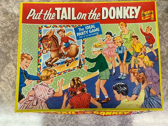 Vintage Put the tail on the donkey game, new and unused