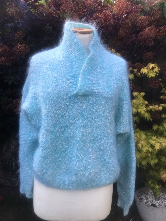 Vintage 1980's hand knitted jumper size 10-12