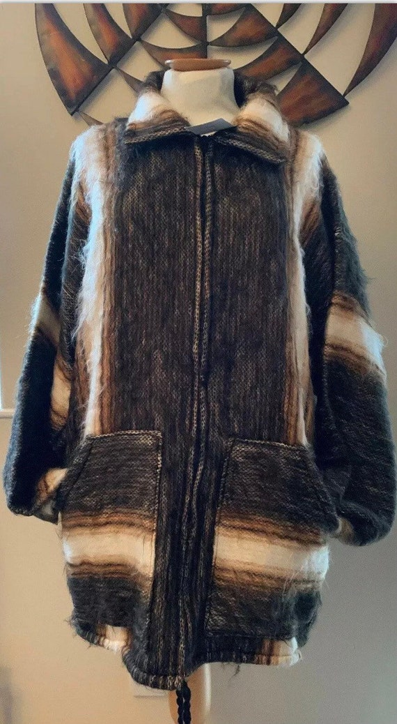 Vintage alpaca wool festival jacket size L